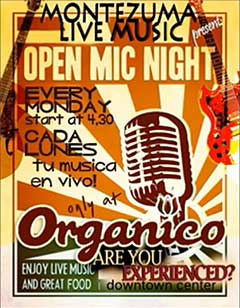 Costa Rica open mic night
