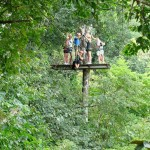 Canopy Tour Platform high in a tree