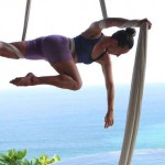 Ana Prada at Anamaya for aerial silk workshop