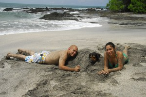 "Costa Ricans enjoying Montezuma's ""Las Manchas"" beach"
