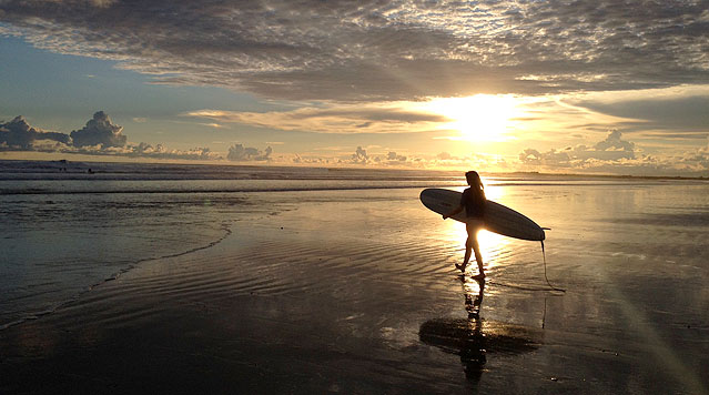 Playa Hermosa at sunset - an epic surf beach north of Santa Teresa