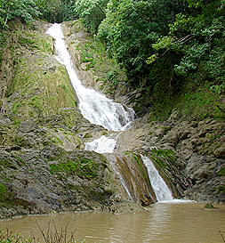 Rio Lajas Waterfall in Cabuya