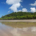 Beautiful reflections in the sand at Playa Hermosa