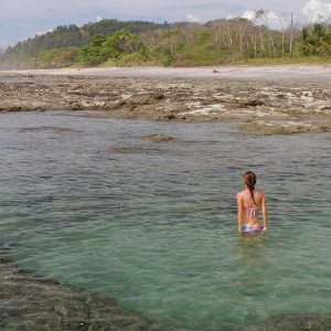 Huge tidepool near to Playa Hermosa, Costa Rica