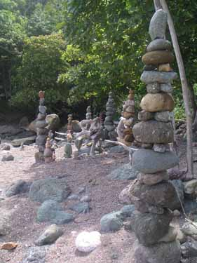 Balanced rock garden at Piedra Colorado