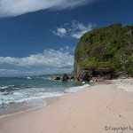 White sand beach of Mal Pais, Costa Rica