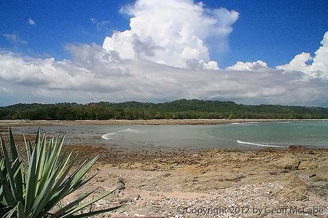 Cabuya beach area as seen from the island