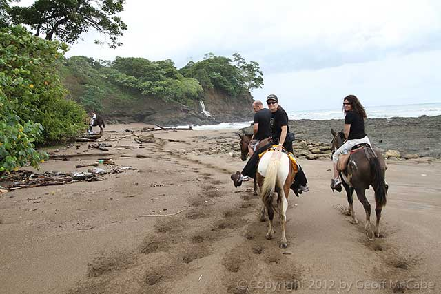 Horseback riding in Montezuma