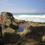Tidepools at the water's edge