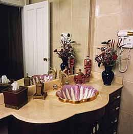 The Quebrada Estate powder room