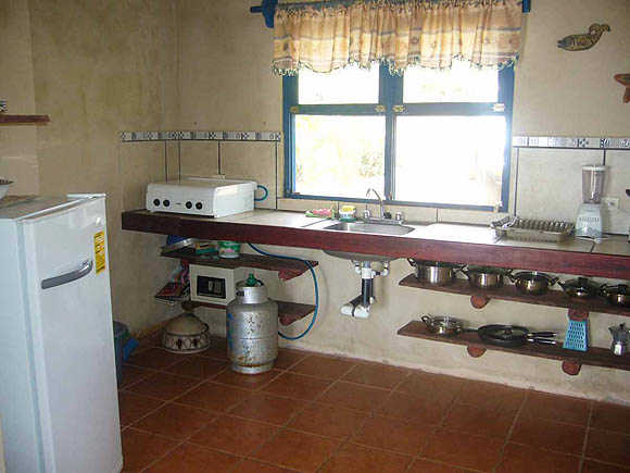 Villa Sollevante cooking area